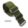 5 Ring Ballistic Army Military Green Nylon Fabric Replacement Watch Band Strap #3015