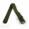 Emporio Armani Compatible 5 Ring Ballistic Army Military Green Nylon Fabric Replacement Watch Band Strap #3015
