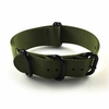 5 Ring Ballistic Army Military Green Nylon Replacement Watch Band Strap PVD #3016