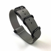Armitron Compatible 5 Ring Ballistic Army Military Grey Nylon Replacement Watch Band Strap PVD #3012