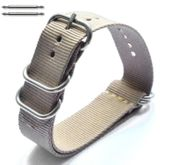 5 Ring Ballistic Army Military Khaki Nylon Fabric Replacement Watch Band #3021