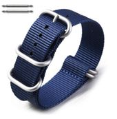 5 Ring Ballistic Army Military Navy Nylon Fabric Replacement Watch Band #3023