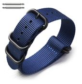 5 Ring Ballistic Army Military Navy Nylon Fabric Replacement Watch Band #3024