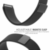 Black Magnetic Clasp Steel Metal Mesh Milanese Bracelet Watch Band Strap #5042