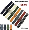 5 Ring Ballistic Army Military Black Nylon Replacement Watch Band Strap PVD #3014