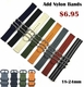 5 Ring Ballistic Army Military Grey Nylon Fabric Replacement Watch Band Strap #3011