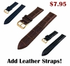 TW Steel Compatible White Croco Leather Replacement Watch Band Strap Rose Gold Steel Buckle #1075