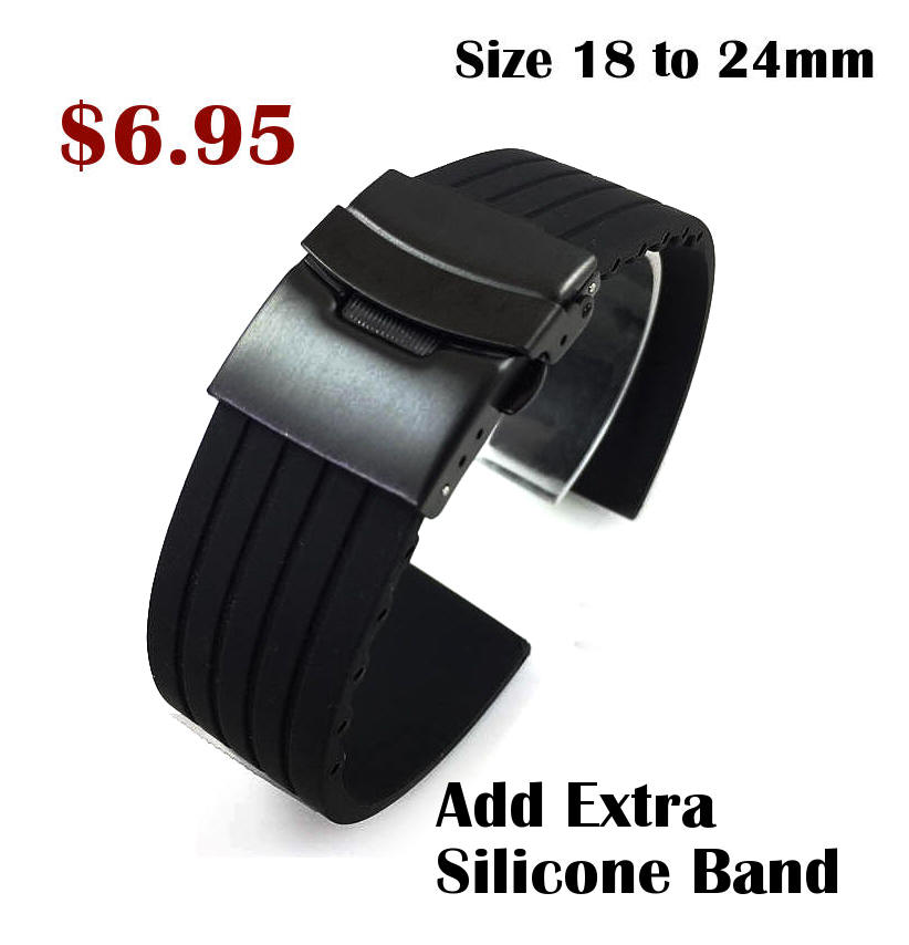 TW Steel Compatible Black Stainless Steel Metal Shark Mesh Bracelet Watch Band Strap Double Locking #5032