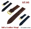 Emporio Armani Compatible Brown Rubber Silicone Replacement Watch Band Strap Gold Double Lock Buckle #4017G