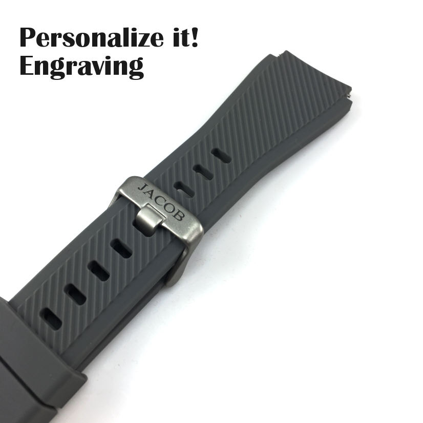 Tissot Compatible Gray Rubber Silicone Replacement Watch Band Strap Quick Release Pins #4049