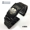 Steel Metal Bracelet Replacement Watch Band Strap PVD Black Push Button Clasp #5016