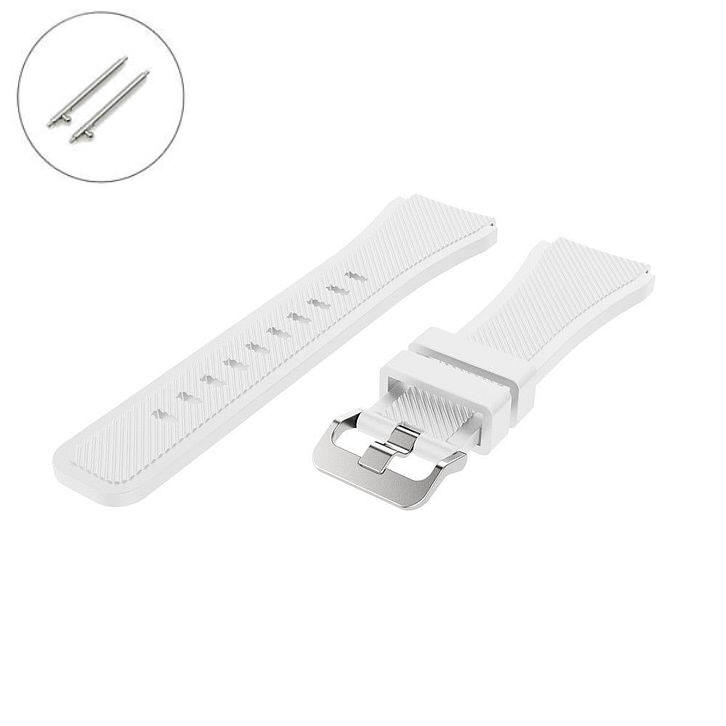 TW Steel Compatible White Rubber Silicone Replacement Watch Band Strap Quick Release Pins #4042