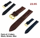 Brown Croco Leather Replacement 20mm Watch Band Strap Gold Steel Buckle #1082