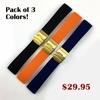 Black Silicone 18mm Watch Band Strap Gold Double Lock Buckle #4011G