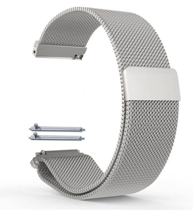 Armitron Compatible Magnetic Clasp Stainless Steel Metal Mesh Milanese Bracelet Watch Band Strap #5041
