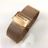 Rose Gold Steel Metal Adjustable Mesh Bracelet Watch Band Strap Double Locking #5028