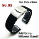 Stainless Steel Metal Watch Band Strap Bracelet Double Locking Buckle #5051