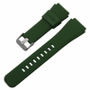 Pebble Time Classic Round Army Military Green Rubber Silicone Watch Band Strap Quick Release Pins #4048