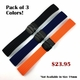 Black Silicone Replacement 20mm Watch Band Strap PVD Double Locking Buckle #4012