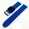 Huawei 2 Black & Blue Double Side Rubber Silicone Replacement Watch Band Strap Belt #4062