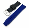 Black & Blue Double Side Silicone Replacement Watch Band Strap #4407