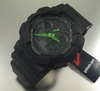 Black Casio G-Shock Neon Green Analog Digital Watch GA100C-1A3