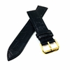 TW Steel Compatible Black Croco Genuine Leather Replacement Watch Band Strap Gold Steel Buckle #1081