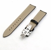 TW Steel Compatible Black Croco Genuine Leather Replacement Watch Band Strap Steel Butterfly Buckle #1031