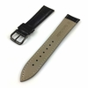 Black Croco Leather Replacement 20mm Watch Band Strap PVD Steel Buckle #1051