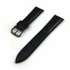 Relic Compatible Black Croco Genuine Leather Replacement Watch Band Strap PVD Steel Buckle #1051