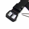 Huawei 2 Black Genuine Leather Replacement Watch Band Strap PVD Steel Buckle #1011