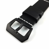 Huawei 2 Black Genuine Leather Replacement Watch Band Strap Steel Buckle White Stitching #1101