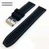 Lacoste Compatible Black & Grey Double Side Rubber Silicone Replacement Watch Band Strap Belt #4061