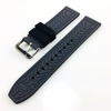TW Steel Compatible Black & Grey Double Side Rubber Silicone Replacement Watch Band Strap Belt #4061