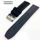 Black & Grey Double Side Silicone Replacement 20mm Watch Band Strap Belt #4061