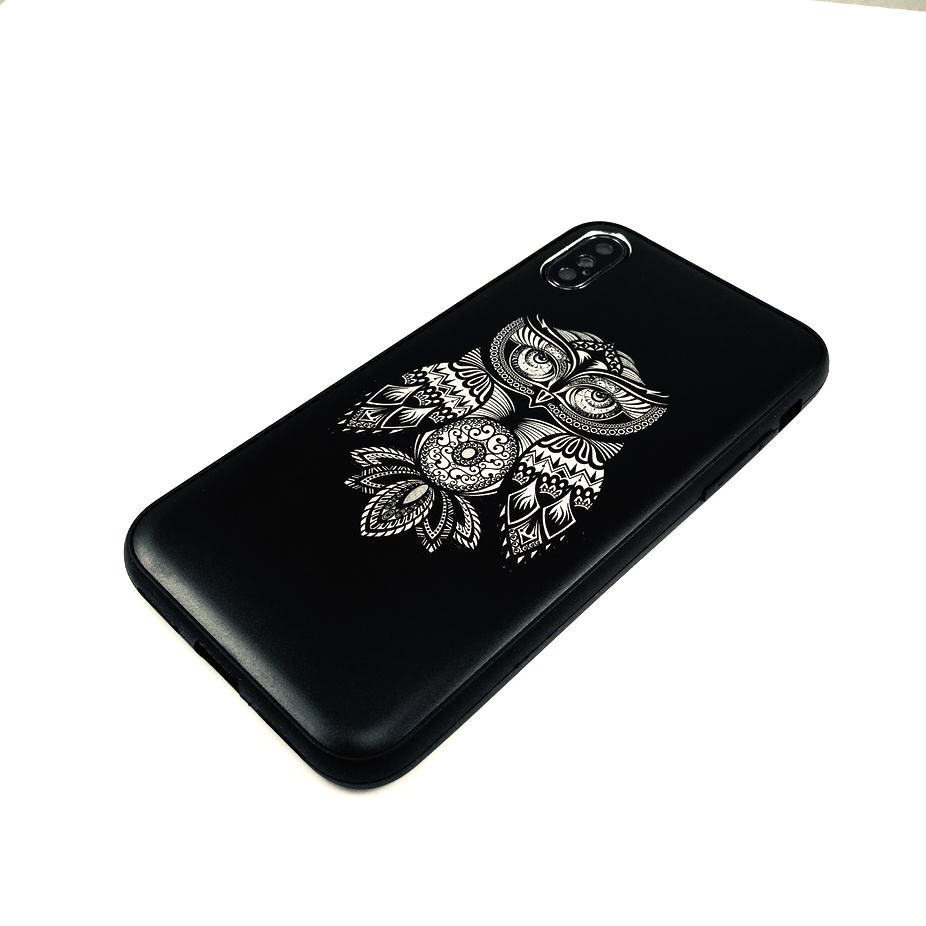 Black iPhone & Samsung Metal Aluminum Cell Phone Case Cover Cool Owl Art #0268