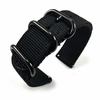 Black Nylon Watch Band Strap Belt Army Military Ballistic Black Buckle #6032