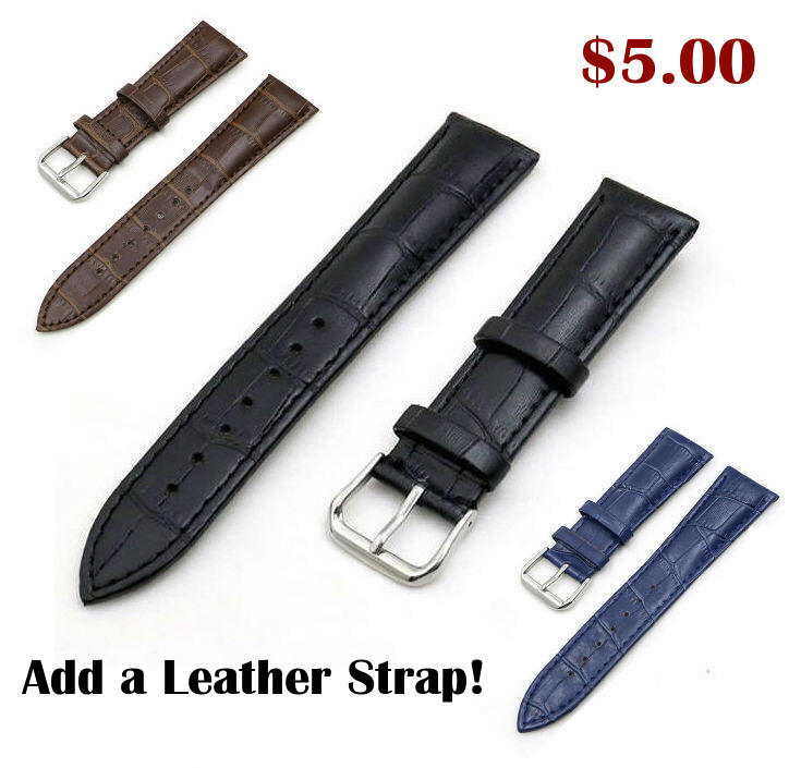 Timex Compatible Steel Polished Black Metal Replacement Watch Band Strap Butterfly Clasp #5056