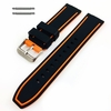 Timex Compatible Black & Orange Double Side Rubber Silicone Replacement Watch Band Strap Belt #4063