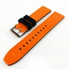 Black & Orange Double Side Rubber Silicone Replacement Watch Band Strap Belt #4063
