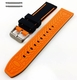Black & Orange Double Side Silicone Replacement 20mm Watch Band Strap Belt #4063