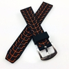 Black & Orange Sports Tire Track Silicone Replacement 20mm Watch Band Strap #4068