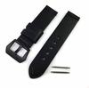 Emporio Armani Compatible Black Premium Genuine Replacement Leather Watch Band Strap Steel Buckle #1001