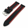 Black & Red Racing Style Silicone Replacement Watch Band Strap #4403