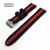 Black & Red Racing Style Silicone Replacement Watch Band Strap #4424