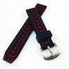 Emporio Armani Compatible Black & Red Sports Tire Track Rubber Silicone Replacement Watch Band Strap #4067