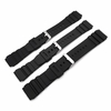 Lacoste Compatible Black Rubber Silicone Diver's Style Replacement Watch Band Strap SS Buckle #4031