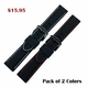 Relic Compatible Black Rubber Silicone PU Replacement Watch Band Strap Red Stitching Steel Buckle #4006