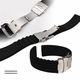 Black Silicone 20mm Watch Band Strap Double Locking Buckle #4011