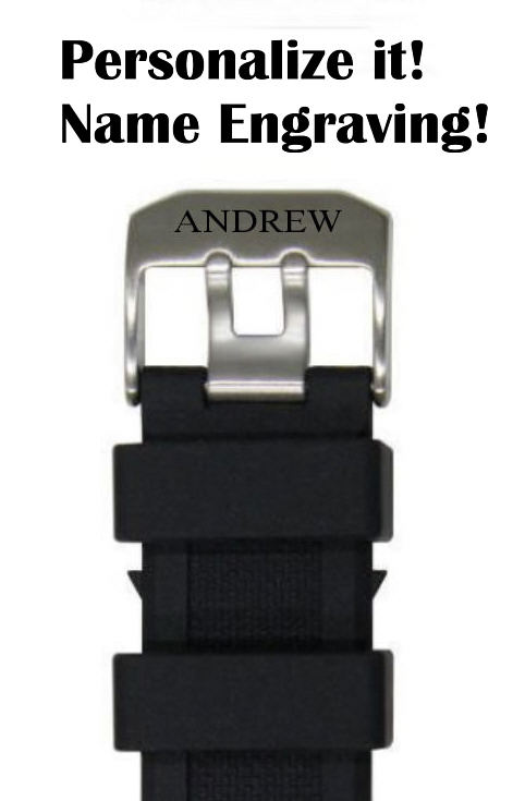 Longines Compatible 23mm Black Rubber Silicone Replacement Watch Band Strap PVD Steel Buckle #4001